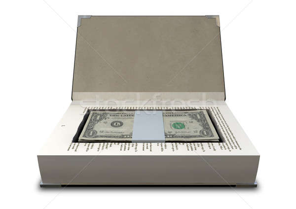 Concealed Cash In A Book Front Stock photo © albund
