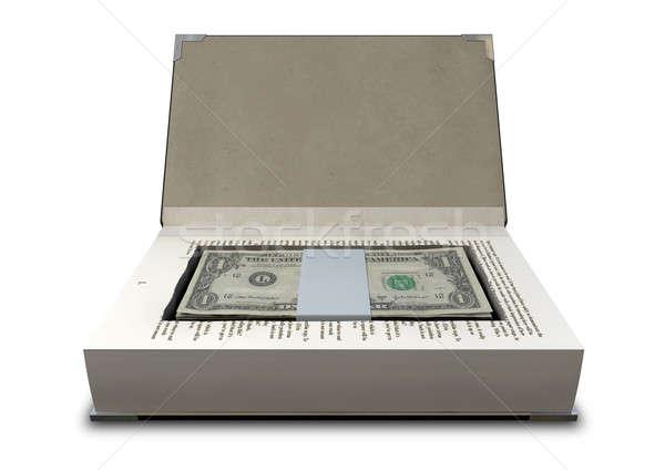 Pénz könyv elöl zsakett oldalak boglya Stock fotó © albund