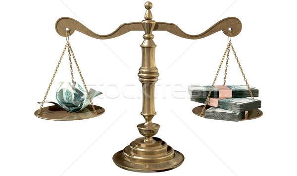 Mérleg igazság jövedelem hézag öreg iskola Stock fotó © albund