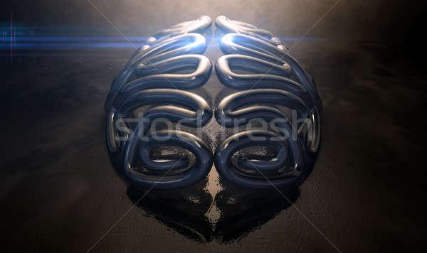 Stock photo: Stylized Thought Statue