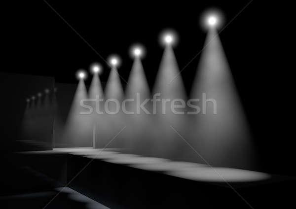 Kifutópálya divat színpad csetepaté fény előadás Stock fotó © albund