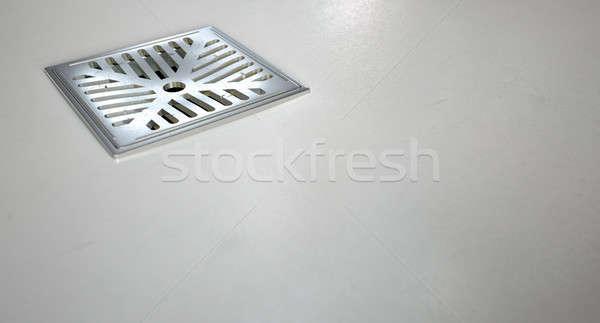 Cromo chuveiro piso drenar conjunto Foto stock © albund