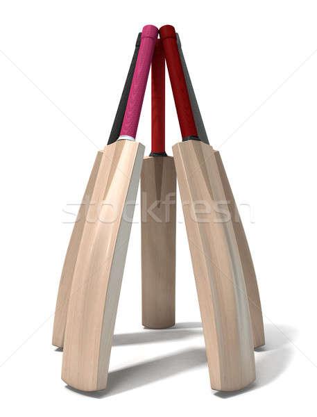Críquete bat círculo Foto stock © albund