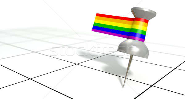Save The Date Pin With Gay Label Stock photo © albund
