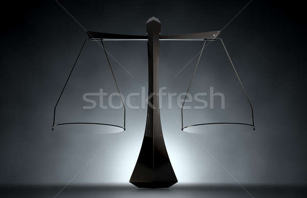 Modern terazi adalet 3d render ölçek Stok fotoğraf © albund