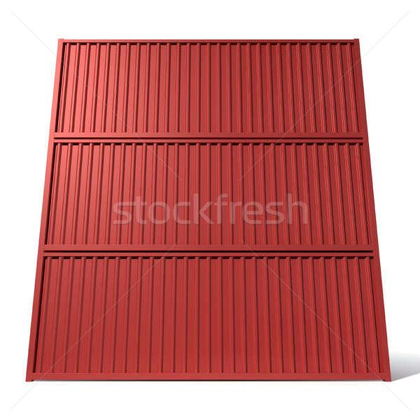 Stockfoto: Scheepvaart · container · Rood · geven · drie