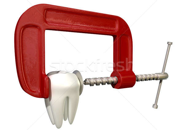 Toothache In Clamp Stock photo © albund