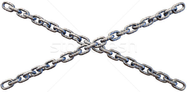 Chains Crossing Close Stock photo © albund