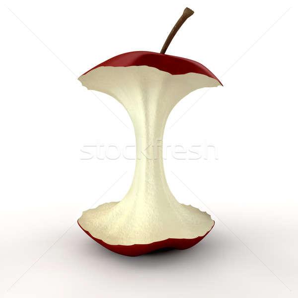 Maçã núcleo isolado maçã vermelha Foto stock © albund