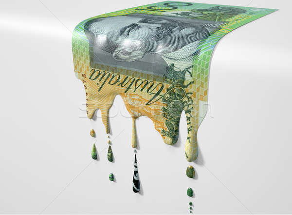 Australian Dollar Melting Dripping Banknote Stock photo © albund