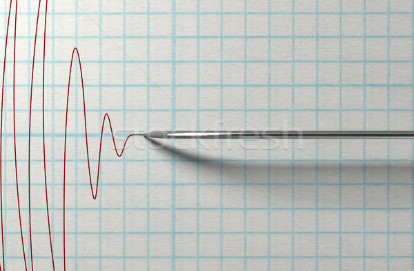 Polygraph Needle And Drawing Stock photo © albund