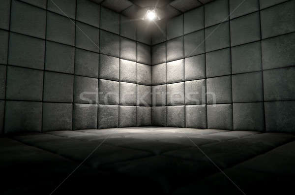 Padded Cell Dirty Spotlight Stock photo © albund