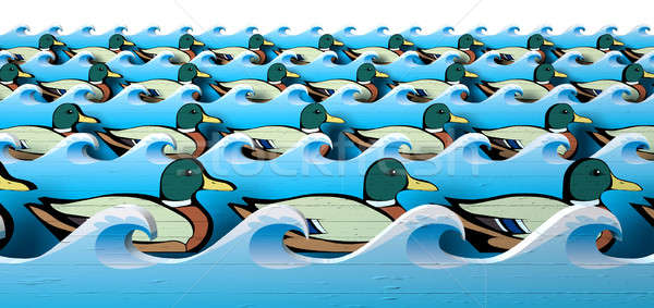 Get Your Ducks In A Row Stock photo © albund