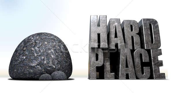 рок место описание большой черный Сток-фото © albund