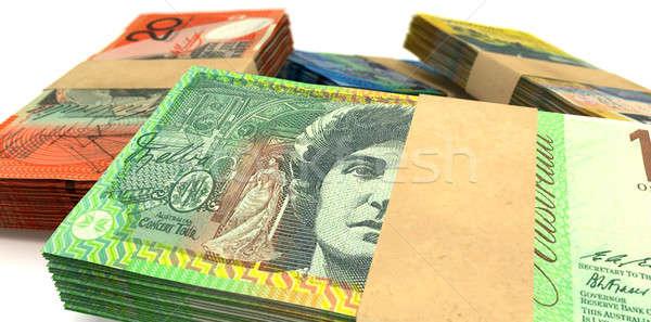 Foto stock: Australiano · dólar · notas · extremo