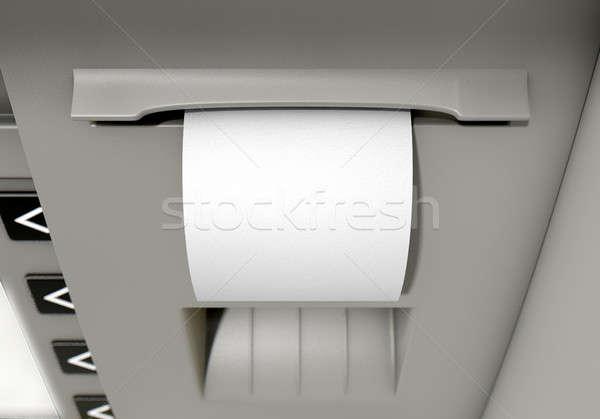 気圧 領収書 クローズアップ 表示 印刷 ストックフォト © albund