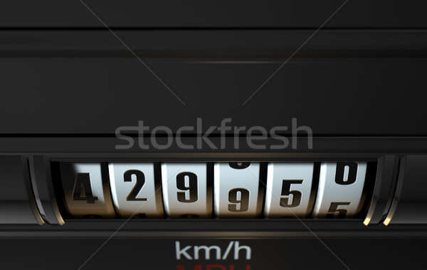 Car Odometer High Stock photo © albund
