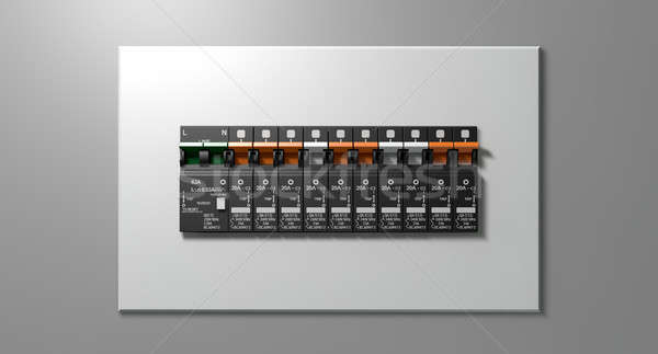 Electrical Circuit Breaker Panel Stock photo © albund