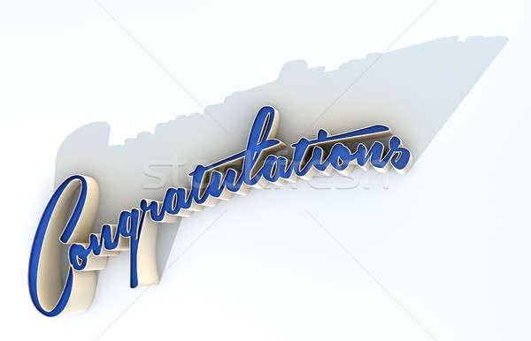 Congratulations Extruded Text Stock photo © albund