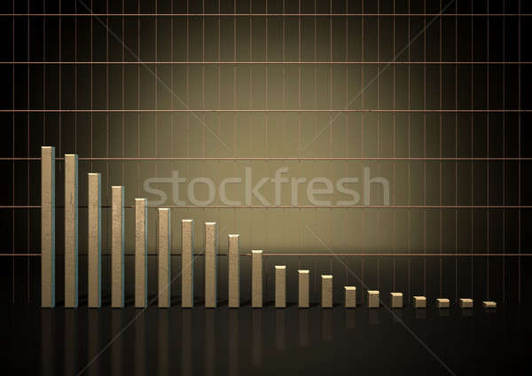 Bar Graph Trend Stock photo © albund