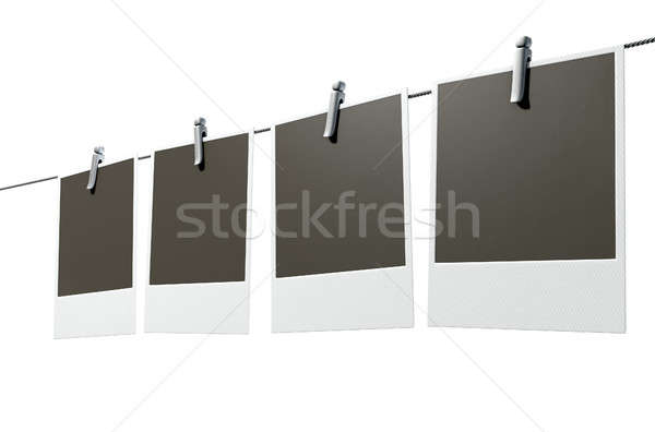 Hanging Instant Photograph Gallery Stock photo © albund