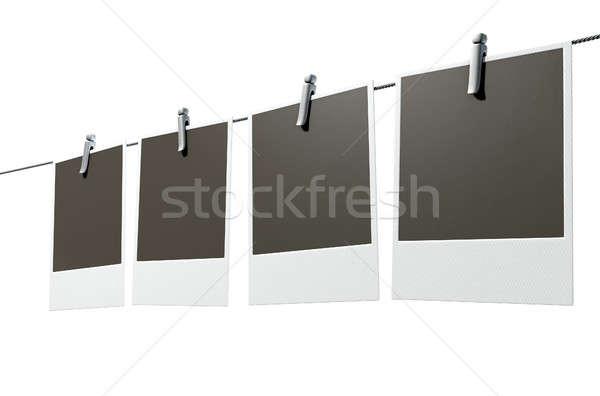 подвесной фотография галерея 3d визуализации четыре Сток-фото © albund