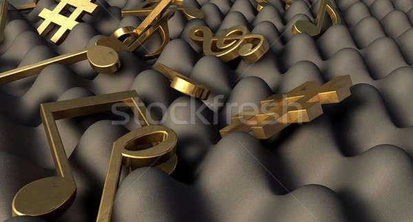 Soar prova espuma musical símbolos Foto stock © albund