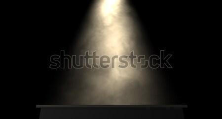 Fase spotlight donkere licht show entertainment Stockfoto © albund
