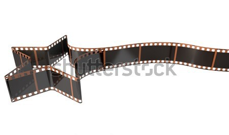 Film Strip Shooting Star Curled Stock photo © albund