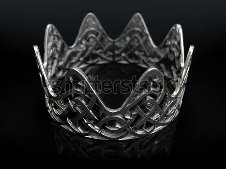 Silver Crown With Thorn Patterns Stock photo © albund