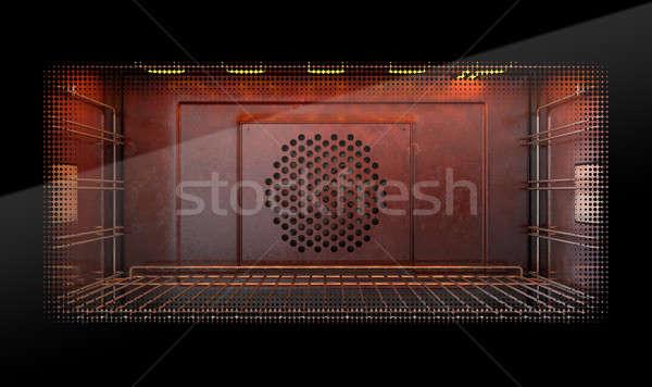 オーブン 表示 フロント 空っぽ ホット ストックフォト © albund