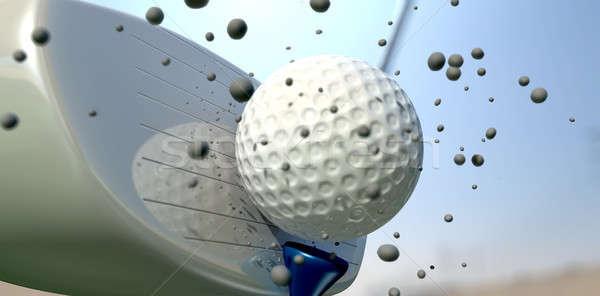 Сток-фото: мяч · для · гольфа · клуба · Extreme · Blue · Sky
