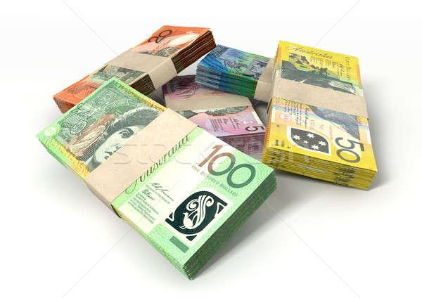 Australian Dollar Notes Bundles Stack Stock photo © albund