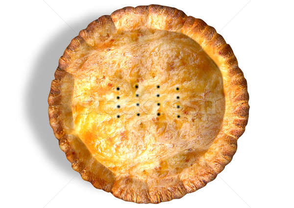 Golden Crispy Pastry Pie Top Stock photo © albund