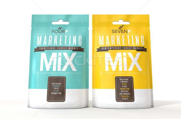 Marketing Mix 4 And 7 P's Stock photo © albund