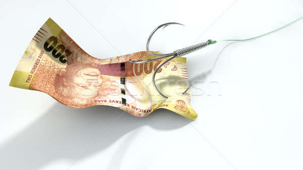 Rand Banknote Baited Hook Stock photo © albund