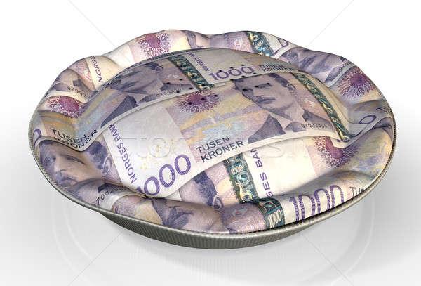 Money Pie Norwegian Kronor Stock photo © albund