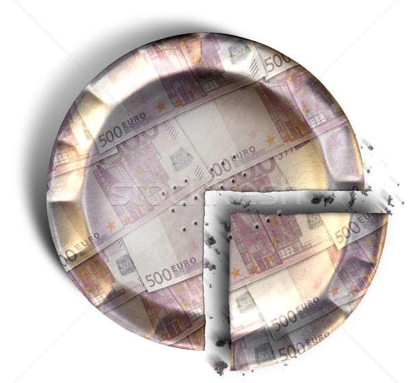Slice Of Euro Money Pie Stock photo © albund
