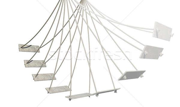 Rope Swing Motion Path Isolated Stock photo © albund