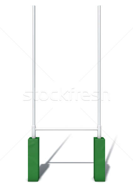 Rugby Posts Isolated Stock photo © albund