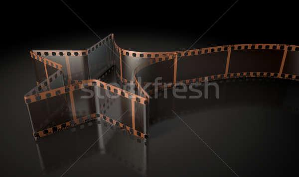 Film strip stella cadente vecchio film Foto d'archivio © albund