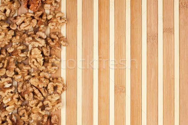 Hámozott dió hazugságok fából készült étel természet Stock fotó © alekleks