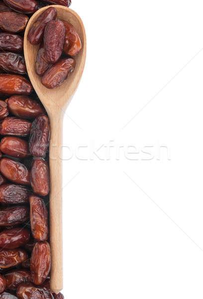 Wooden spoon with dates Stock photo © alekleks