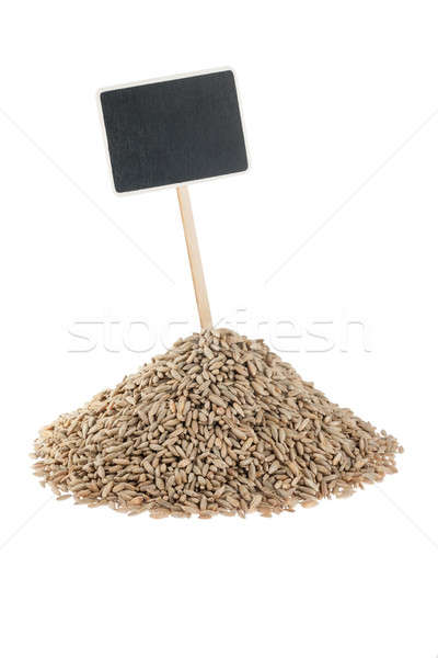 Heap of  rye  with a pointer for your text Stock photo © alekleks
