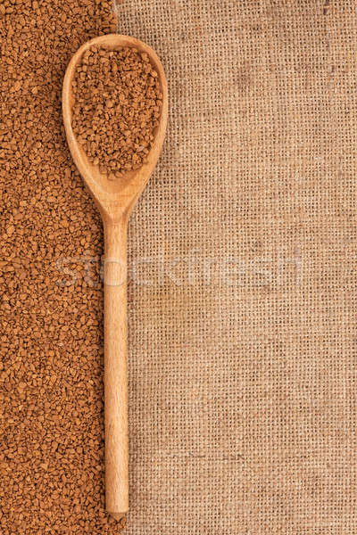 wooden spoon with granulated coffee  Stock photo © alekleks