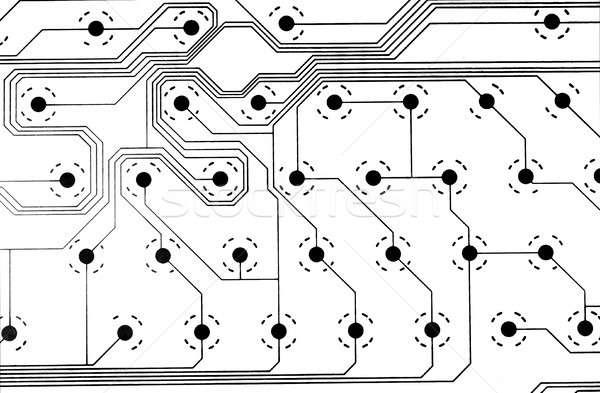 Circuito texture isolato bianco sfondo comunicazione Foto d'archivio © alekleks