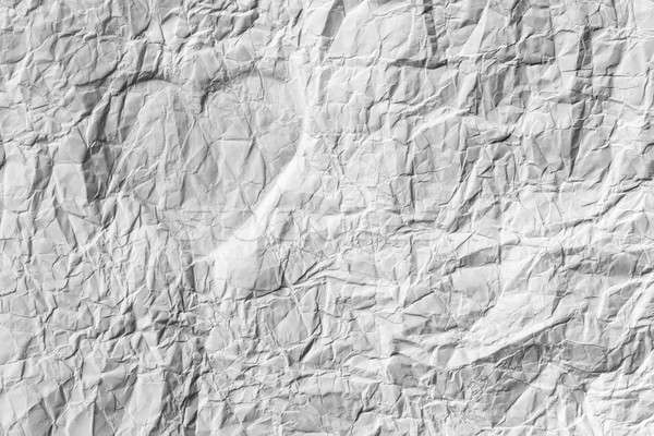 Silhouette of the heart on a white crumpled paper Stock photo © alekleks