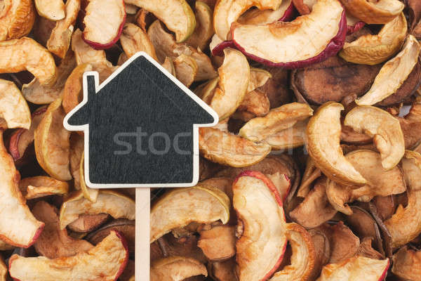 House pointer, the price tag lies on  dried  apple Stock photo © alekleks