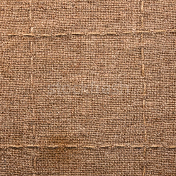 Seam on sackcloth Stock photo © alekleks