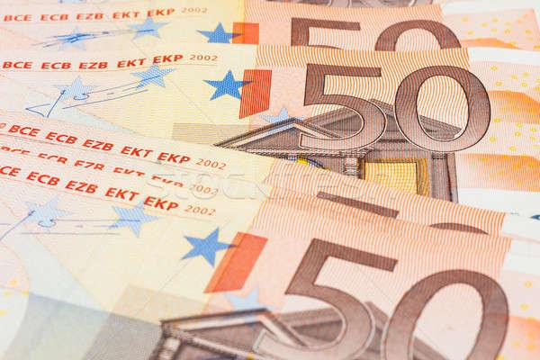 евро используемый бизнеса деньги бумаги Сток-фото © alekleks